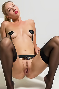 Xana D - hot blonde in sexy stockings