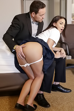 Amara Romani gets punished with furious sex